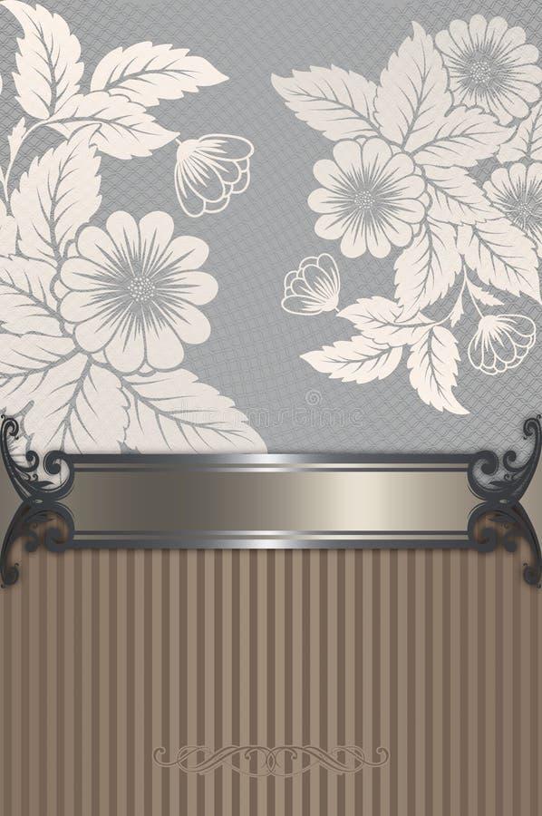 Εκλεκτής ποιότητας floral υπόβαθρο με το διακοσμητικό πλαίσιο απεικόνιση αποθεμάτων