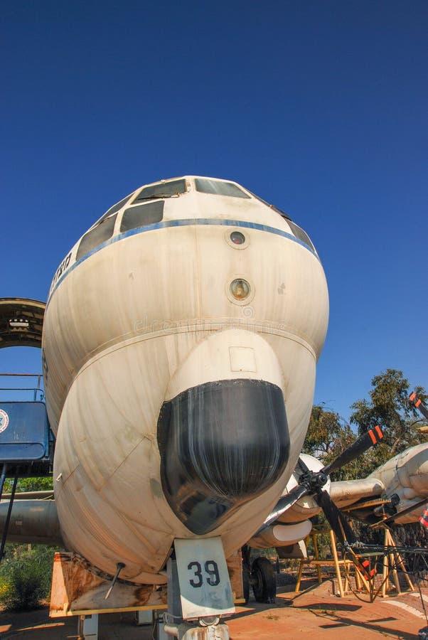 Εκλεκτής ποιότητας Mikoyan miG-15 αεροσκάφη UTI που επιδεικνύονται στο ισραηλινό μουσείο Πολεμικής Αεροπορίας στοκ εικόνες