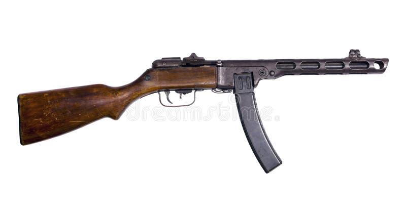 Εκλεκτής ποιότητας submachine πυροβόλο όπλο στο άσπρο υπόβαθρο στοκ εικόνα