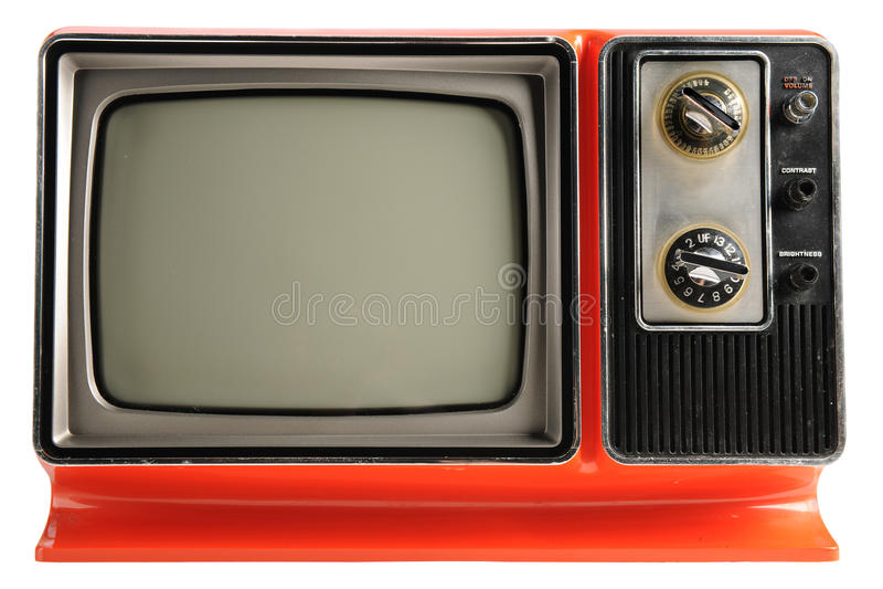Εκλεκτής ποιότητας TV στοκ εικόνες
