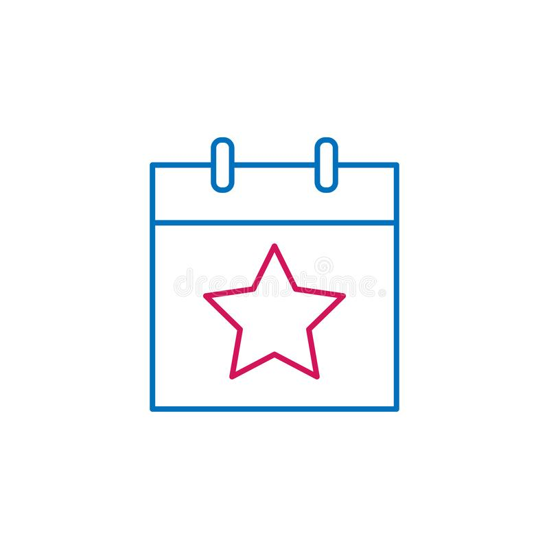 Εκλογές, χρωματισμένο περίληψη εικονίδιο ημέρας εκλογών Μπορέστε να χρησιμοποιηθείτε για τον Ιστό, λογότυπο, κινητό app, UI, UX ελεύθερη απεικόνιση δικαιώματος