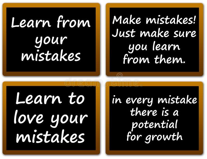 Εκμάθηση από τα λάθη διανυσματική απεικόνιση