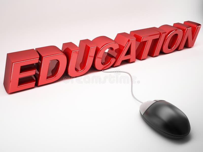 Εκμάθηση Ε ή έννοια εκπαίδευσης απεικόνιση αποθεμάτων
