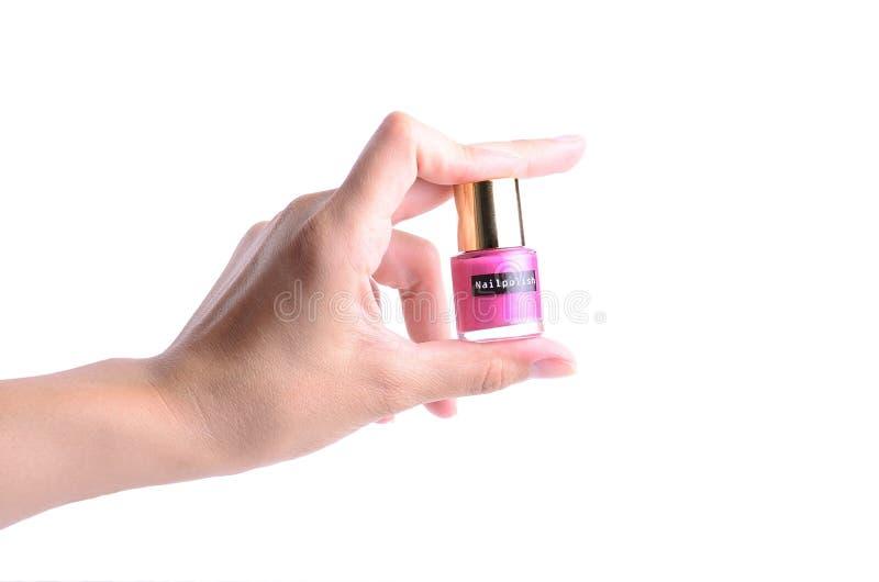 Εκμετάλλευση χεριών Nailpolish Στοκ Εικόνα