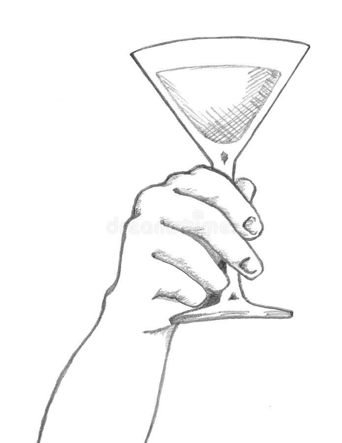 εκμετάλλευση martini χεριών γ&u ελεύθερη απεικόνιση δικαιώματος
