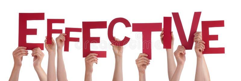 Εκμετάλλευση το κόκκινο Word πολλών χεριών ανθρώπων αποτελεσματικό στοκ εικόνες