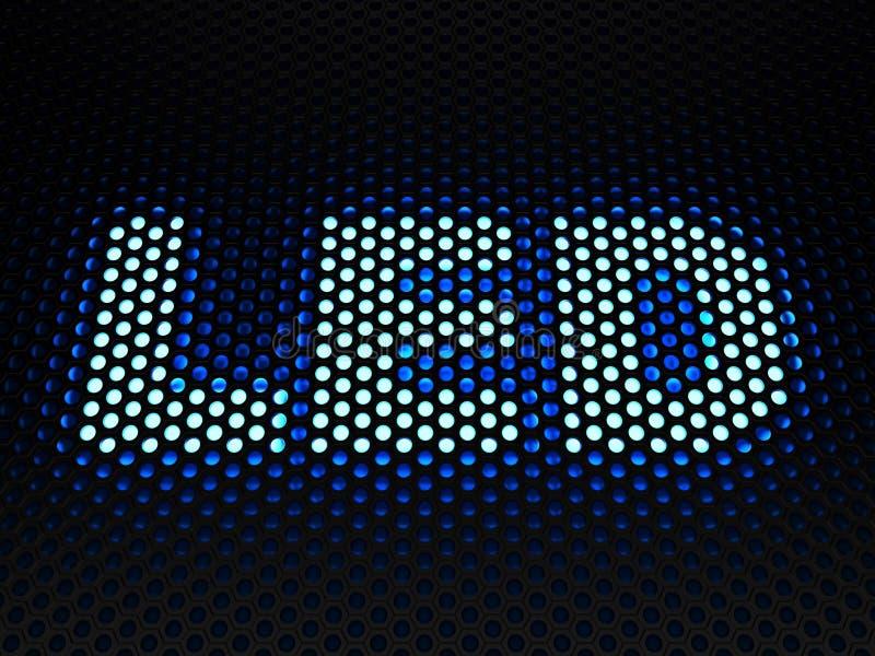 Εκπέμπον φως σημάδι διόδων (οδηγήσεις) διανυσματική απεικόνιση