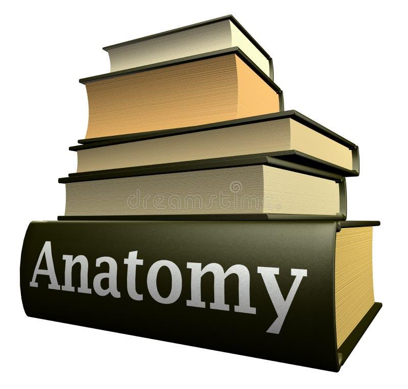 εκπαίδευση βιβλίων ανατομίας διανυσματική απεικόνιση