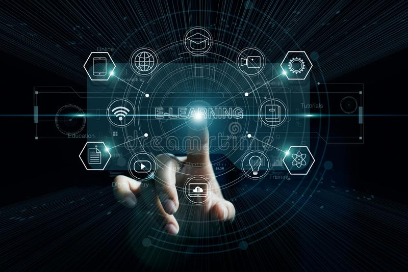 Εκπαίδευση ε-εκμάθησης Επιχείρηση κατάρτισης δίκτυο Ίντερνετ ως βάση γνώσεων στοκ φωτογραφία με δικαίωμα ελεύθερης χρήσης