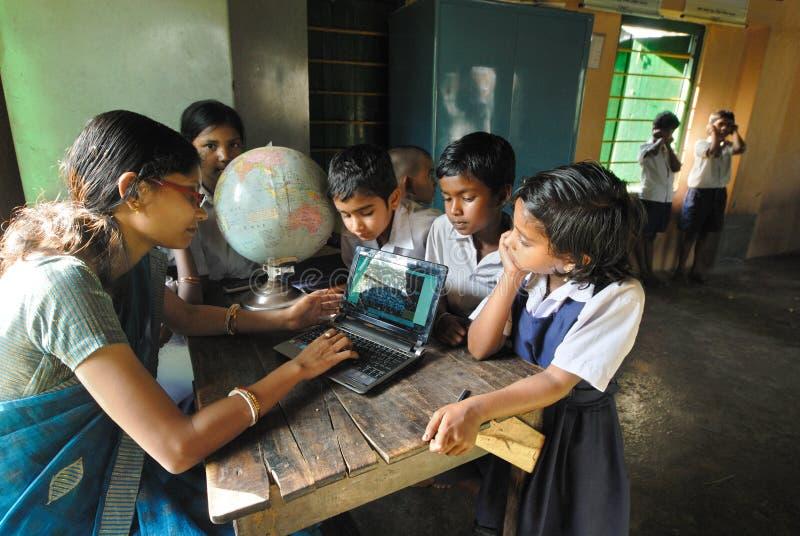 εκπαίδευση Ινδία αγροτική στοκ φωτογραφίες