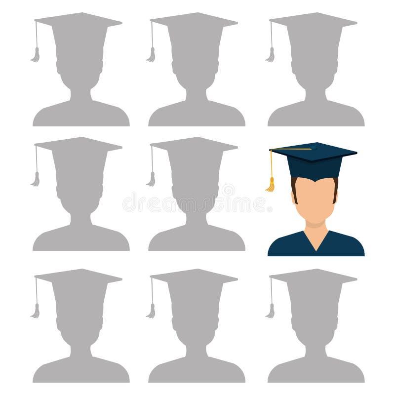 Εκπαίδευση, βαθμολόγηση και ακαδημαϊκό διανυσματική απεικόνιση