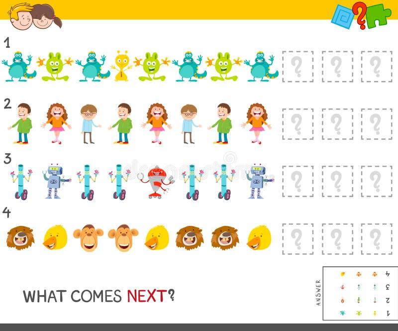 Εκπαιδευτικό παιχνίδι σχεδίων για τα παιδιά διανυσματική απεικόνιση