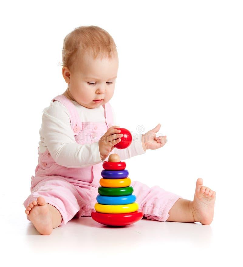 εκπαιδευτικό όμορφο παιχνίδι χρώματος μωρών στοκ εικόνα με δικαίωμα ελεύθερης χρήσης