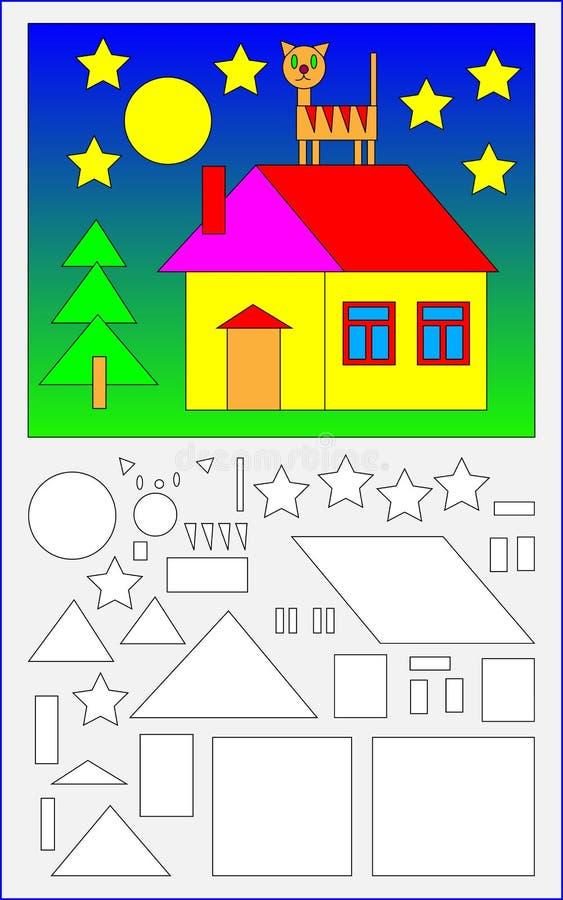 Εκπαιδευτική σελίδα για τα μικρά παιδιά διανυσματική απεικόνιση