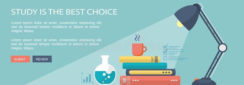 Download Εκπαιδευτικό επίπεδο έμβλημα μάρκετινγκ με τα σχολικά όργανα Διανυσματική απεικόνιση - εικονογραφία από ιδέα, μέσα: 62706113