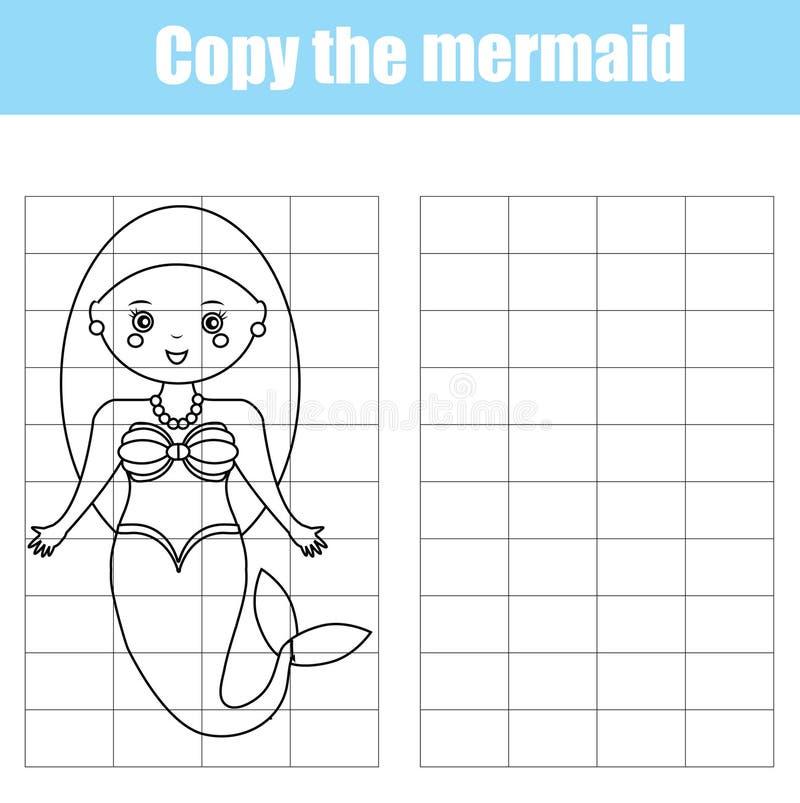 Εκπαιδευτικό δημιουργικό παιχνίδι παιδιών αντιγράφων πλέγματος ελεύθερη απεικόνιση δικαιώματος