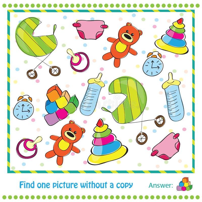 Εκπαιδευτικό παιχνίδι απεικόνισης για τα παιδιά - βρείτε ελεύθερη απεικόνιση δικαιώματος