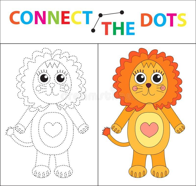 Εκπαιδευτικό παιχνίδι παιδιών ` s για τις δεξιότητες μηχανών Συνδέστε την εικόνα σημείων Για τα παιδιά της προσχολικής ηλικίας Κύ διανυσματική απεικόνιση