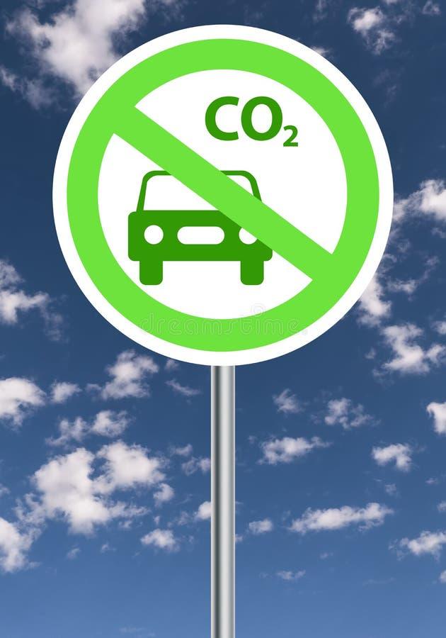 Εκπομπή άνθρακα διανυσματική απεικόνιση