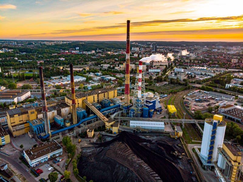 Εκπομπή του CO2 στο Γντανσκ στοκ φωτογραφία με δικαίωμα ελεύθερης χρήσης
