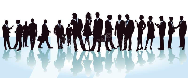 Εκπρόσωποι σε μια επιχειρησιακή διάσκεψη διανυσματική απεικόνιση