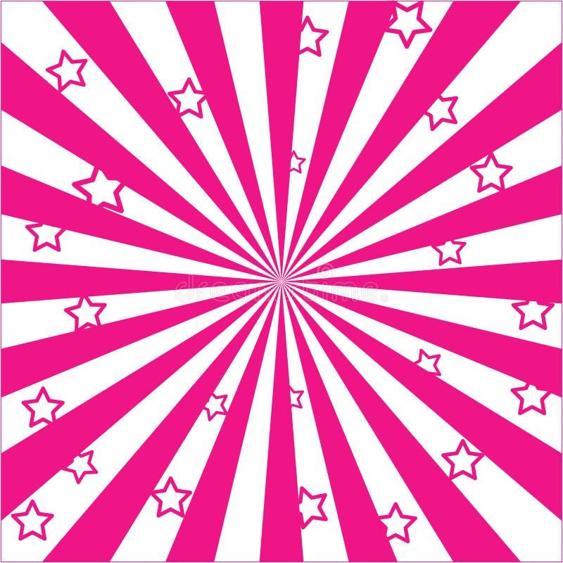 Εκρήξεις και αστέρια του Ray διανυσματική απεικόνιση
