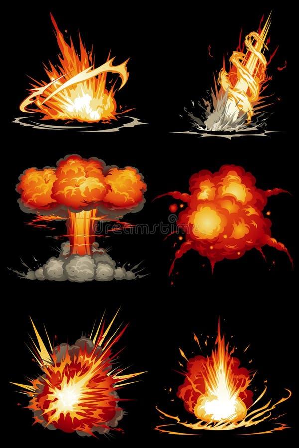 Εκρήξεις 01 διανυσματική απεικόνιση