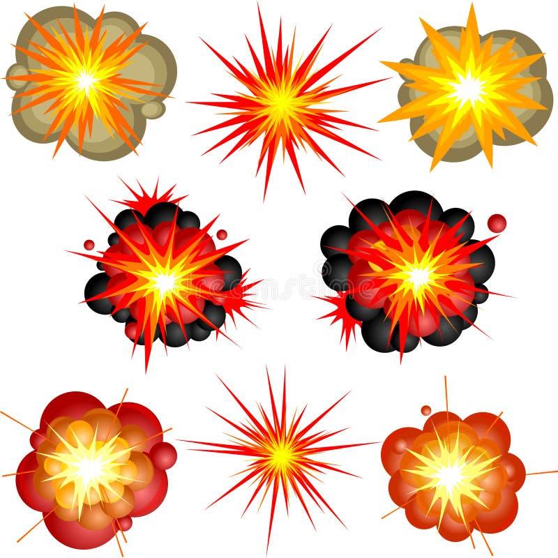 εκρήξεις διανυσματική απεικόνιση