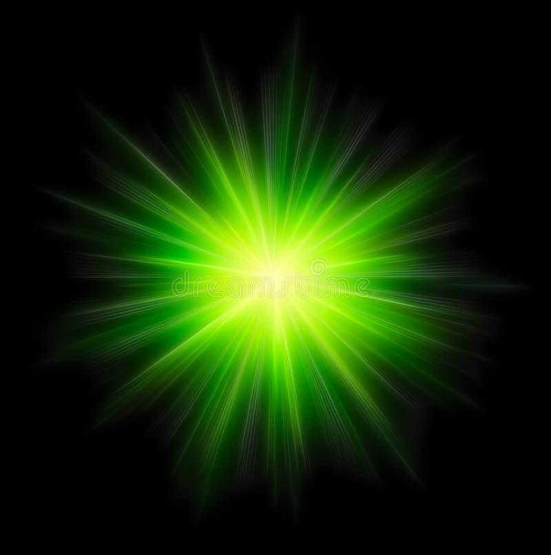 εκραγείτε το πράσινο αστέρι ελεύθερη απεικόνιση δικαιώματος
