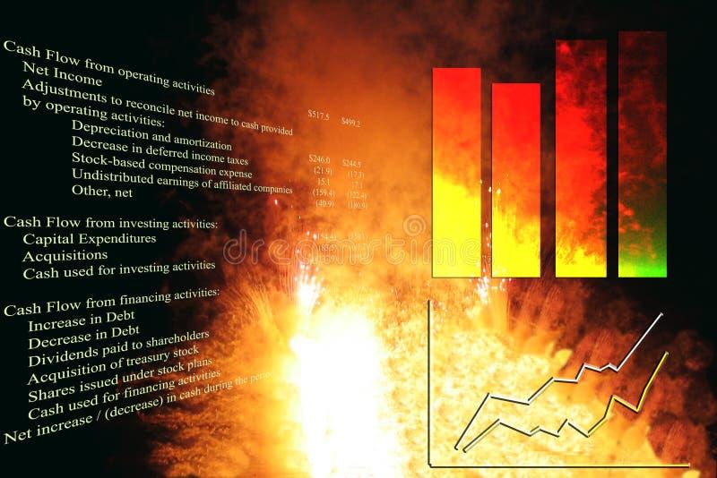 εκρηκτική ανάπτυξη διαγρ&alph στοκ εικόνες με δικαίωμα ελεύθερης χρήσης