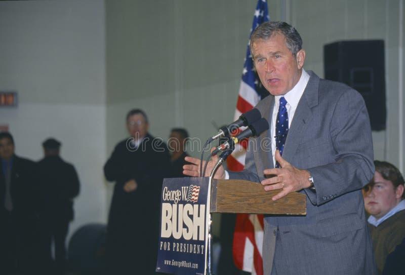 Εκστρατείες του Τζορτζ Μπους κυβερνητών του Τέξας για τη δημοκρατική υποψηφιότητα για Πρόεδρος του 2000 Londonderry, Νιού Χάμσαιρ στοκ εικόνες