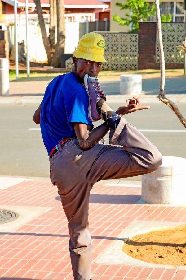 Εκτελεστής οδών σε Soweto Νότια Αφρική στοκ εικόνες με δικαίωμα ελεύθερης χρήσης