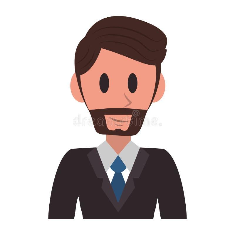 Εκτελεστικά κινούμενα σχέδια χαρακτήρα επιχειρηματιών ελεύθερη απεικόνιση δικαιώματος