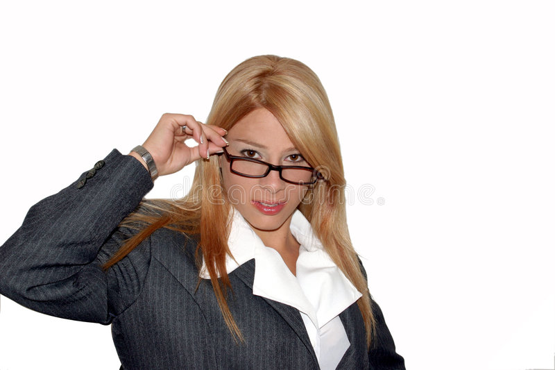 Download εκτελεστική ΙΙ γυναίκα στοκ εικόνα. εικόνα από τηλέφωνο - 110807