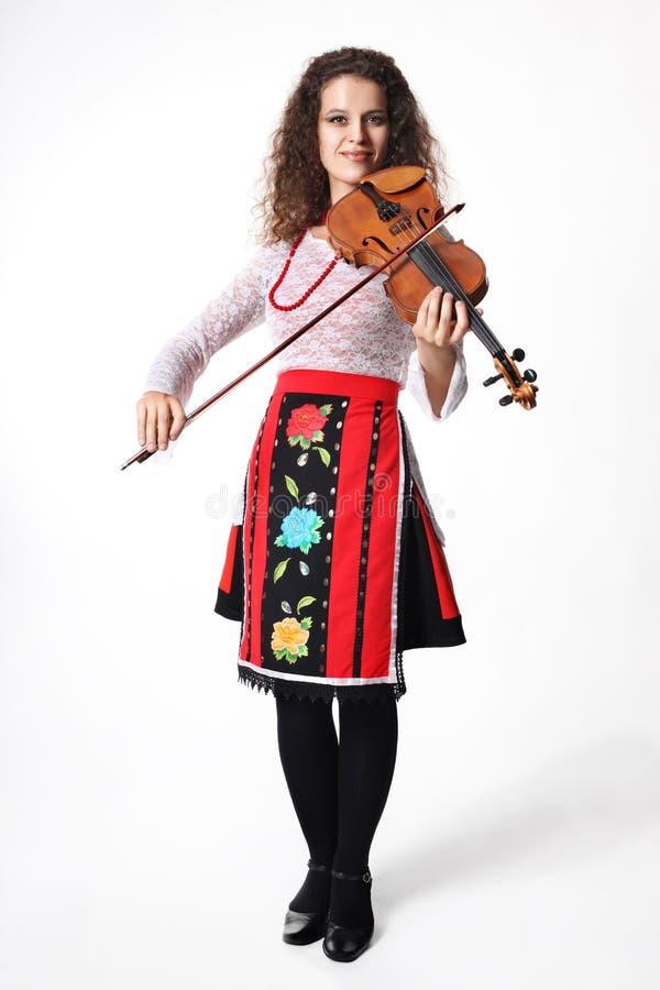 Εκτελεστής μουσικής με το βιολί στοκ εικόνα