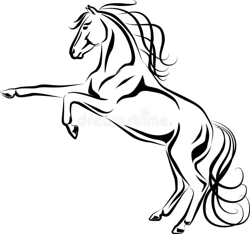 Εκτρέφοντας άλογο διανυσματική απεικόνιση