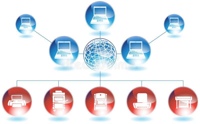 εκτυπωτής δικτύων ελεύθερη απεικόνιση δικαιώματος