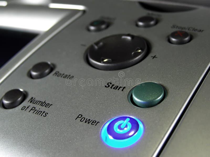 εκτυπωτής κουμπιών στοκ φωτογραφία με δικαίωμα ελεύθερης χρήσης