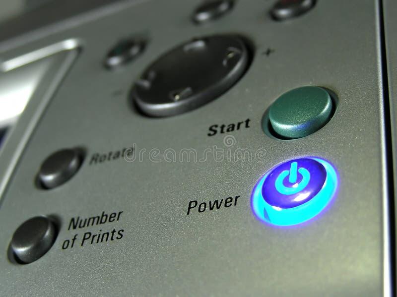 εκτυπωτής κουμπιών στοκ φωτογραφίες με δικαίωμα ελεύθερης χρήσης