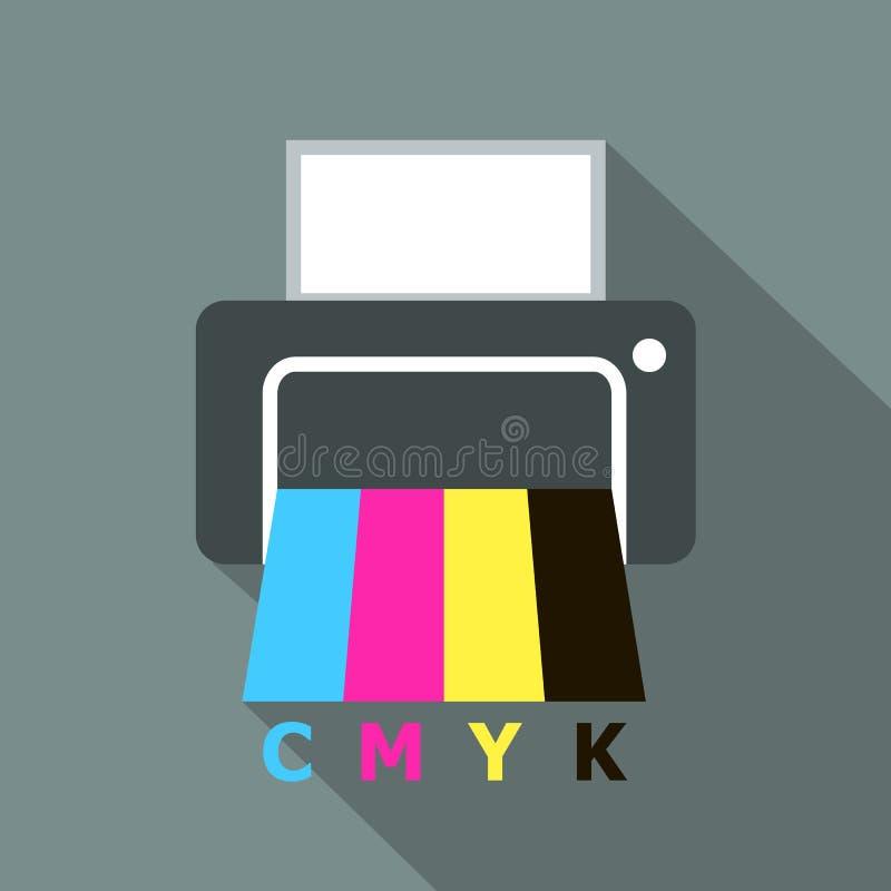 Εκτυπωτής CMYK απεικόνιση αποθεμάτων