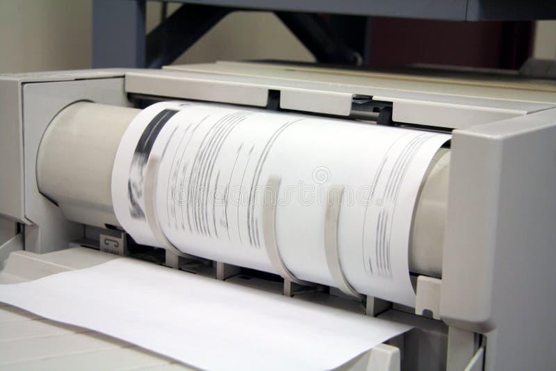 εκτυπωτής fax αντιγραφέων στοκ εικόνα