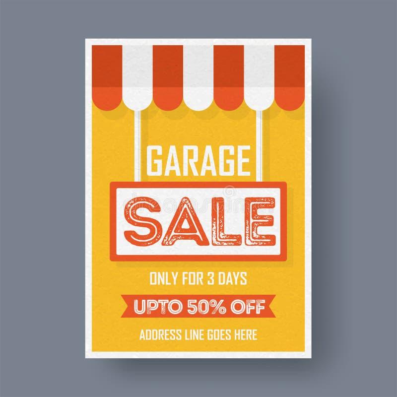 Εκτυπώσιμη αφίσα ανακοίνωσης γεγονότος πώλησης γκαράζ ή ναυπηγείων ή banne ελεύθερη απεικόνιση δικαιώματος