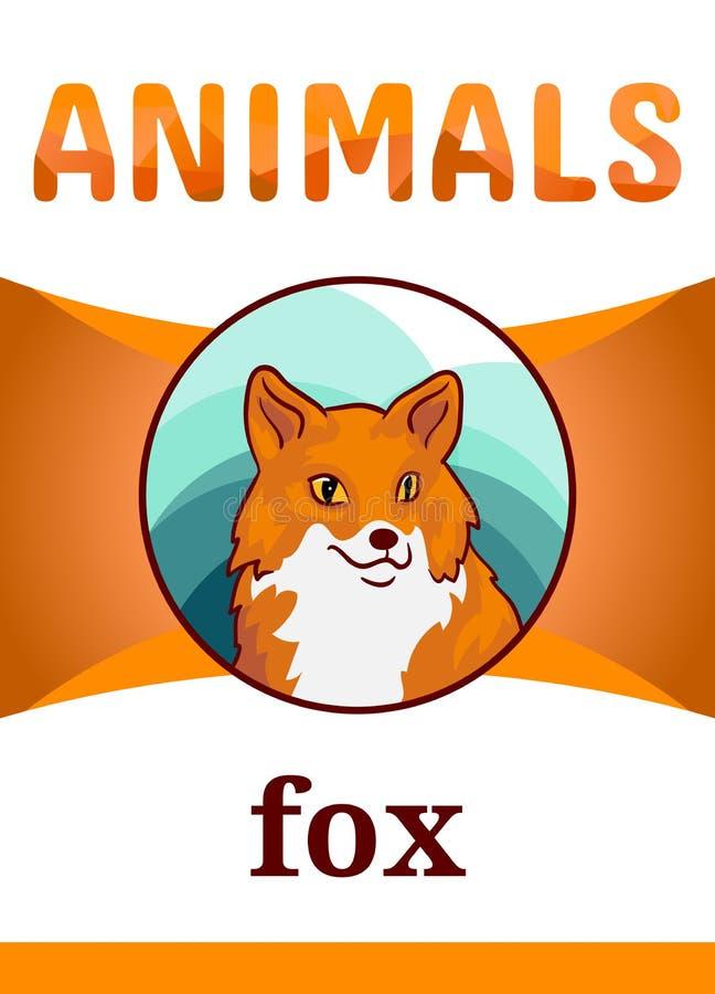 Εκτυπώσιμη ζωική κάρτα λάμψης διανυσματική απεικόνιση