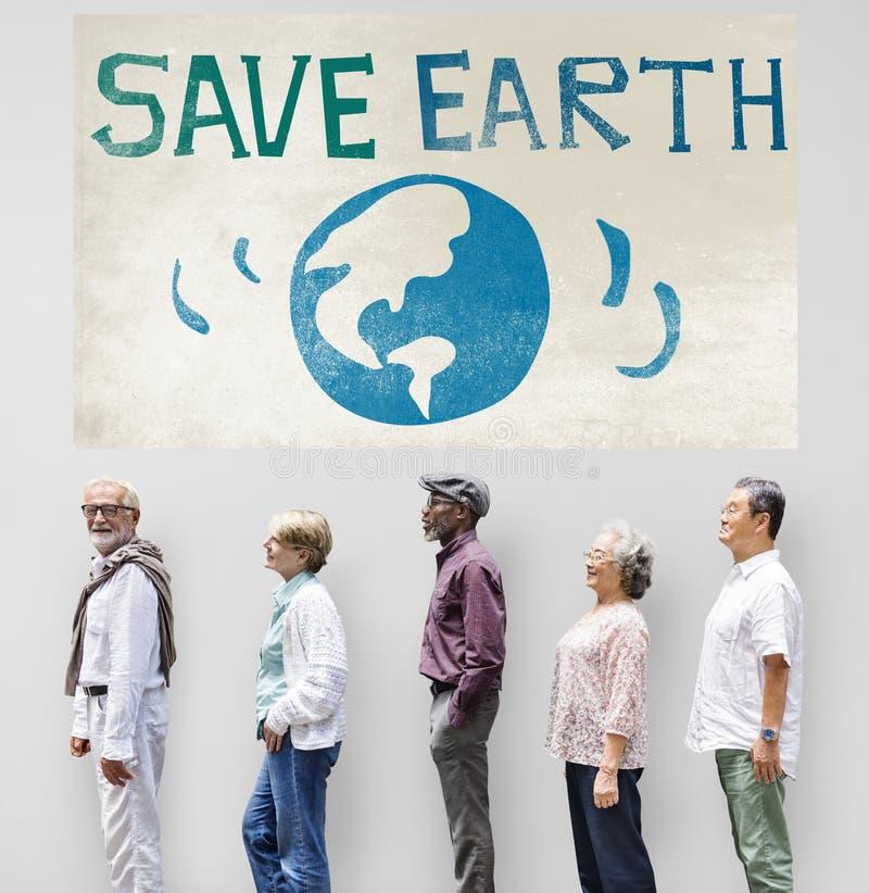 Εκτός από την έννοια συντήρησης περιβάλλοντος γήινης οικολογίας στοκ εικόνα