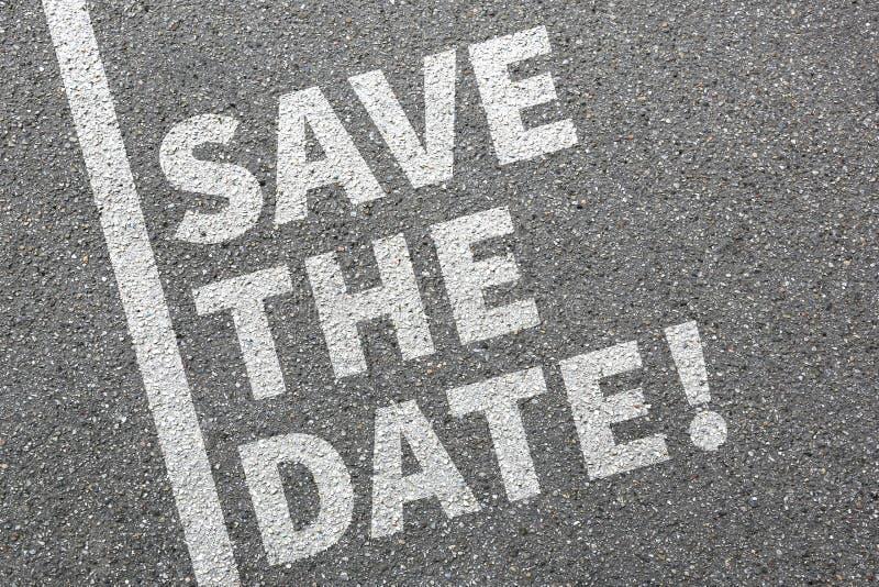 Εκτός από την επιχειρησιακή έννοια πληροφοριών μηνυμάτων πρόσκλησης ημερομηνίας στοκ εικόνες