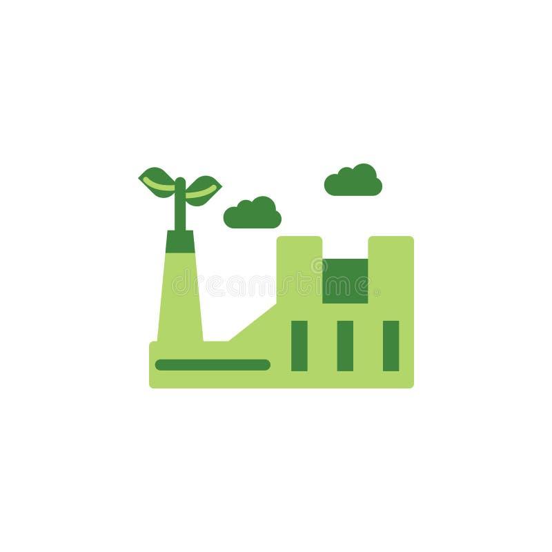 Εκτός από τον κόσμο, χρωματισμένο εργοστάσιο εικονίδιο eco Στοιχεία εκτός από το εικονίδιο γήινης απεικόνισης Τα σημάδια και τα σ ελεύθερη απεικόνιση δικαιώματος