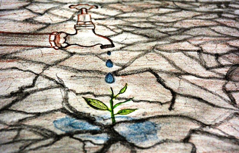 Εκτός από το σκίτσο νερού στοκ εικόνες