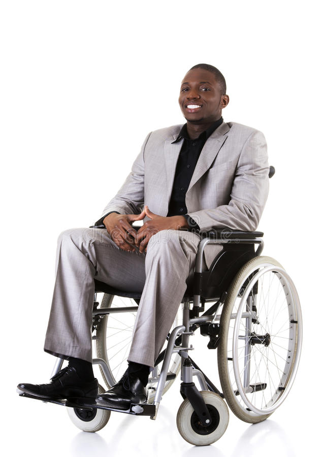 Εκτός λειτουργίας συνεδρίαση επιχειρηματιών στην αναπηρική καρέκλα στοκ εικόνες