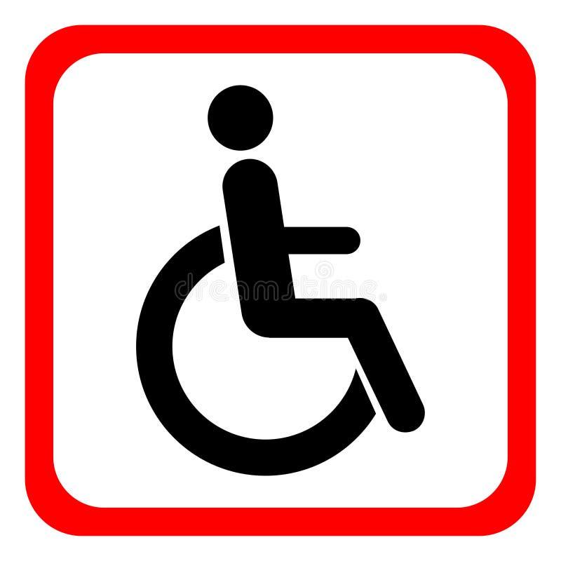 Εκτός λειτουργίας εικονίδιο αναπηρικών καρεκλών Θέστε εκτός λειτουργίας το λογότυπο συμβόλων, που απομονώνεται σε άσπρο, διάνυσμα διανυσματική απεικόνιση