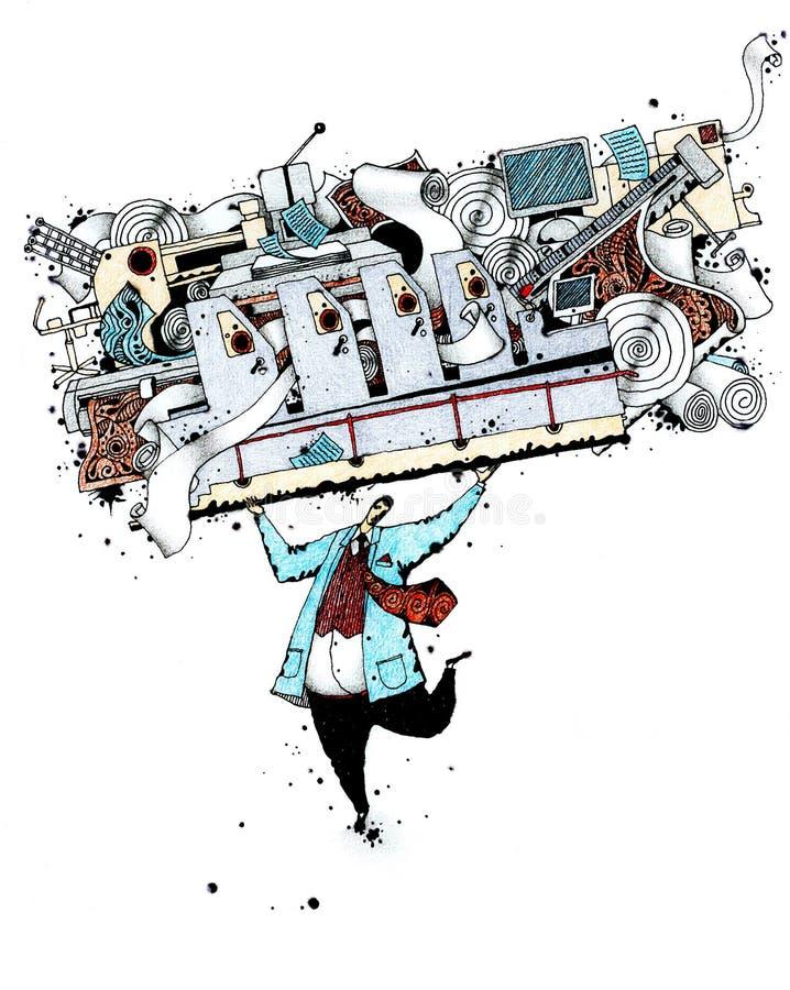 εκτύπωση βιομηχανίας ελεύθερη απεικόνιση δικαιώματος